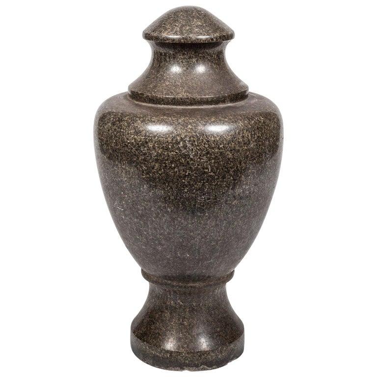 19th Century Granite Stone Grand Tour Style Decorative Vase For Sale