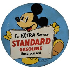 1940 Standard Gasoline Advertising with Disney's Mickey Mouse
