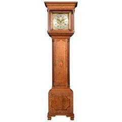 Oak Cased Grandmother Clock