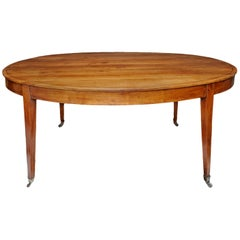 French Louis XVI/Directoire Oval Cherrywood Dining or Library Table, circa 1790