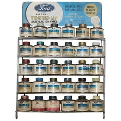 1960s Original Ford Acrylic Enamel Touch Up Paint Counter Top Display