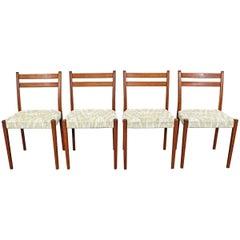 Set of 4 Midcentury Scandinavian Modern Svegards Markaryd Teak Dining Chairs
