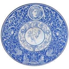 20th Century Italian Collectible Antique Painted Ceramic Plate, 1910s