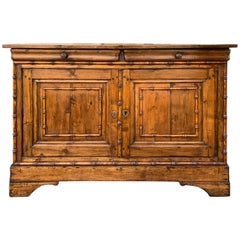 19th Century to Turn of the 20th Century Faux Bamboo Server