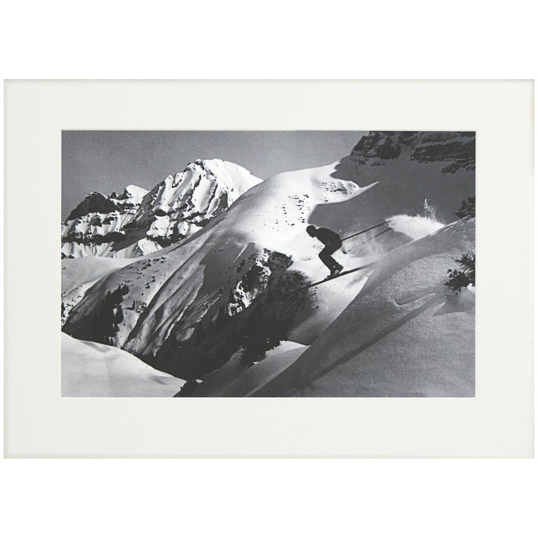 Alpine Ski Photograph, 'THE JUMP' Taken from 1930s Original For Sale