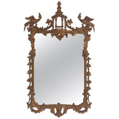 Gilt Chinese Chippendale or Chinoiserie Mirror