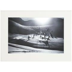 Alpine Ski Photograph, 'Happy Skiers' Taken from 1930s Original