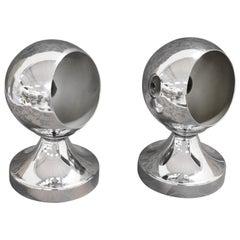20. Jahrhunderts italienisches Design Aluminium paar Tischleuchte
