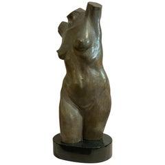 Life-Size Female Bronze Torso by Lawrence M. Ludtke