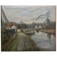 Grand Dutch Landscape Oil Painting on Canvas