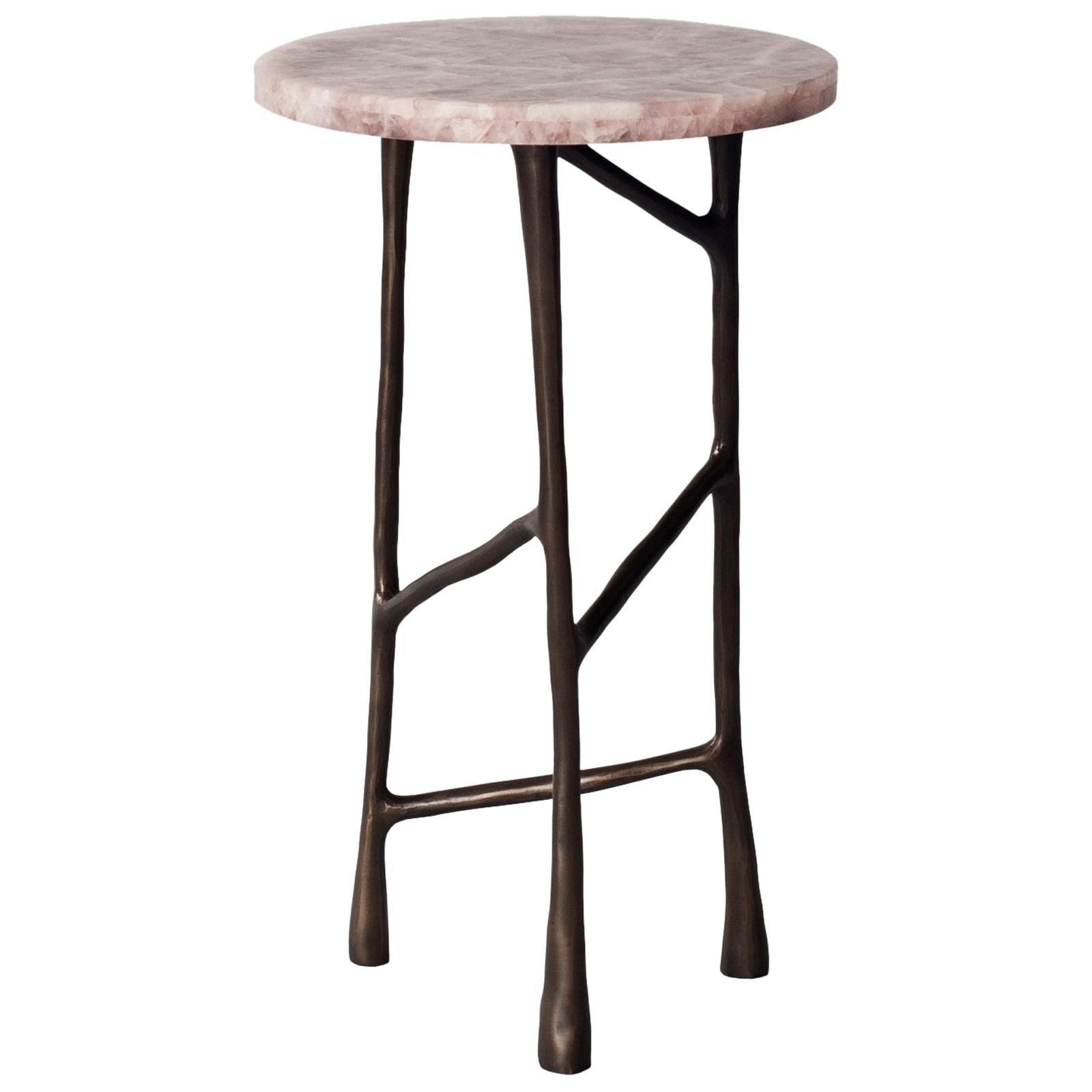 Forma Side Table by DeMuro Das in Pink Quartz