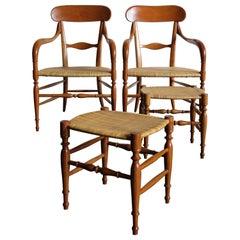 Chiavarine Campanino Italian Chairs Armchairs for S.A.C., 1980s