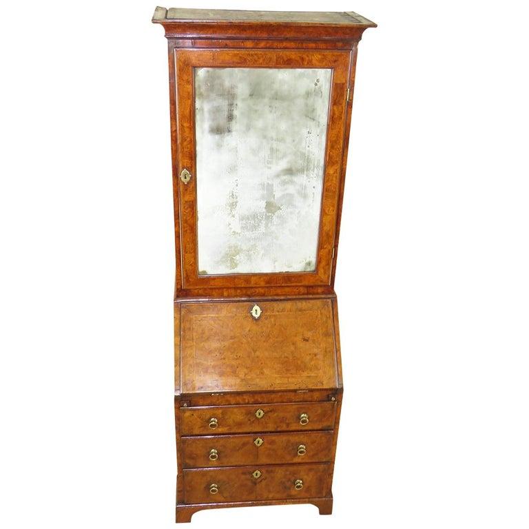 Georgian 18th Century Walnut Antique Bureau Bookcase