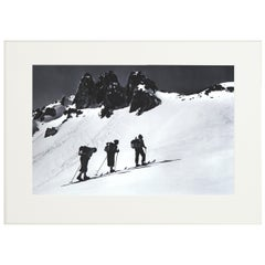 Alpine Ski Photograph, 'Three Peaks' Taken from 1930s Original