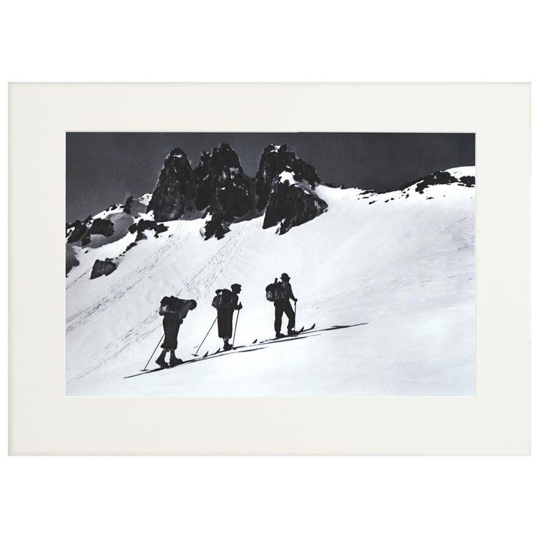 Alpine Ski Photograph, 'Three Peaks' Taken from 1930s Original For Sale