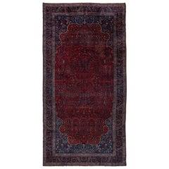 Antique Persian Kashan Mansion Carpet, circa 1920s