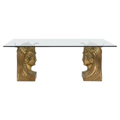 20th Century Egyptian Revival Pharaoh Dining Table