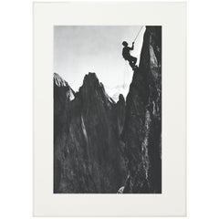Alpine Mountaineering Photograph, 'CLIMBER' Taken From 1930s Original