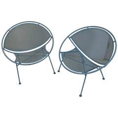 Pair of Mid-Century Modern Salterini Hoop Radar Chairs Maurizio Tempestini