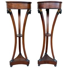 Pair of Early 19th Century Period Italian Directoire Torchieres, circa 1820