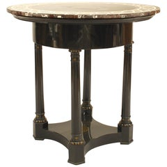 Austrian Biedermeier Marble-Top Center Table