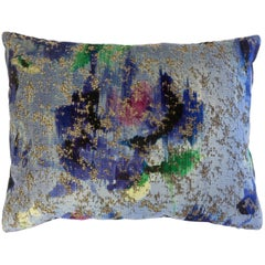 Designer Throw Pillow with Flower Print