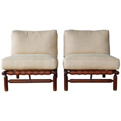 Pair of Ilmari Tapiovaara Lounge Chairs, Italy, 1957