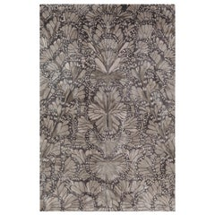Monarch Smoke Hand Knotted 12x9 Rug in Silk by Alexander McQueen