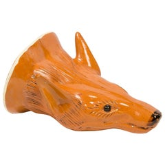 Fox Head Stirrup Cup Style Ralph Wood Deaccessioned from Colonial Williamsburg