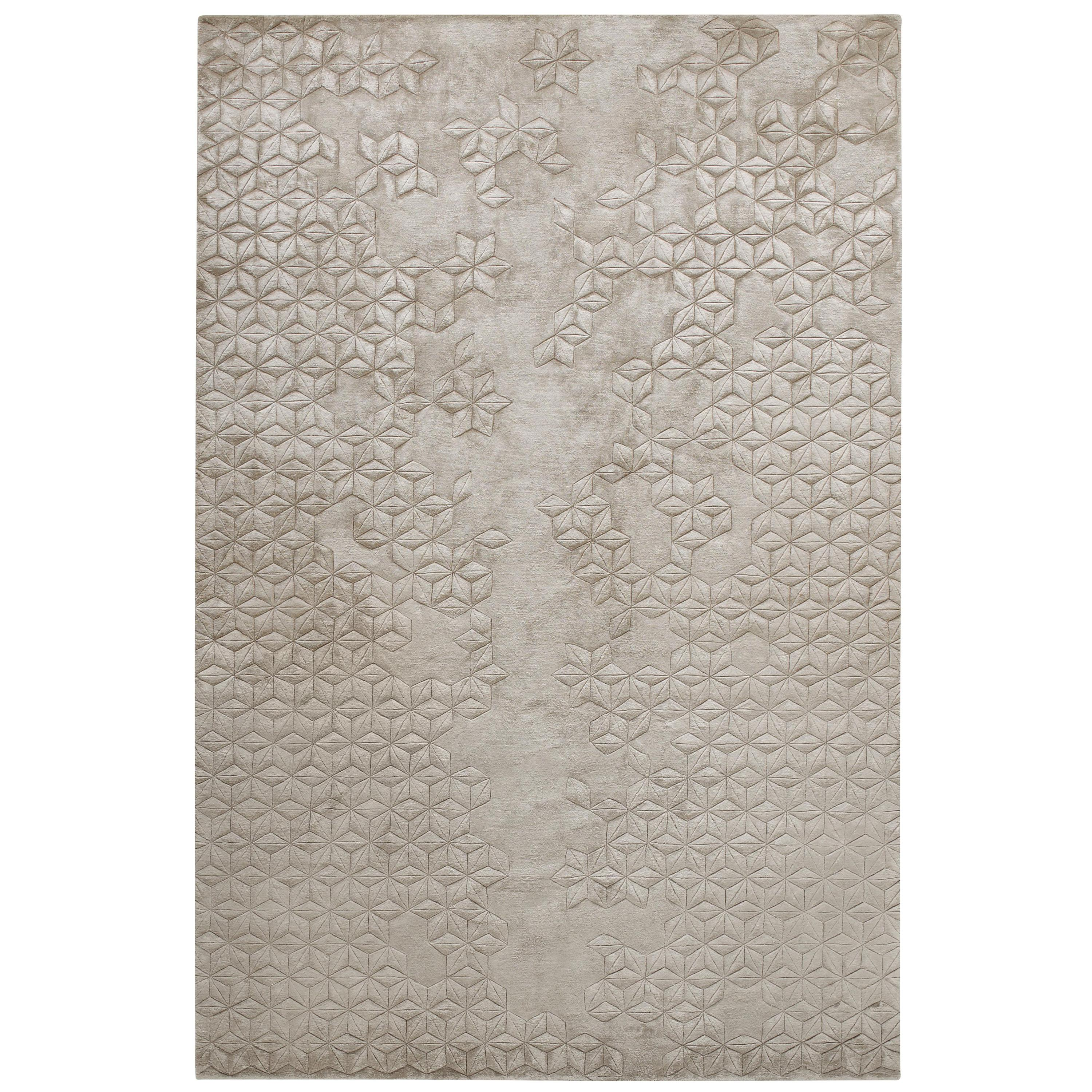 Star Silk Hand-Knotted 10x8 Rug in Silk by Helen Amy Murray