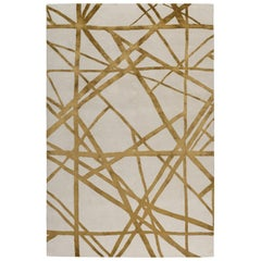 Channels Copper Hand Knotted 10x8 Rug in Wool and Silk by Kelly Wearstler