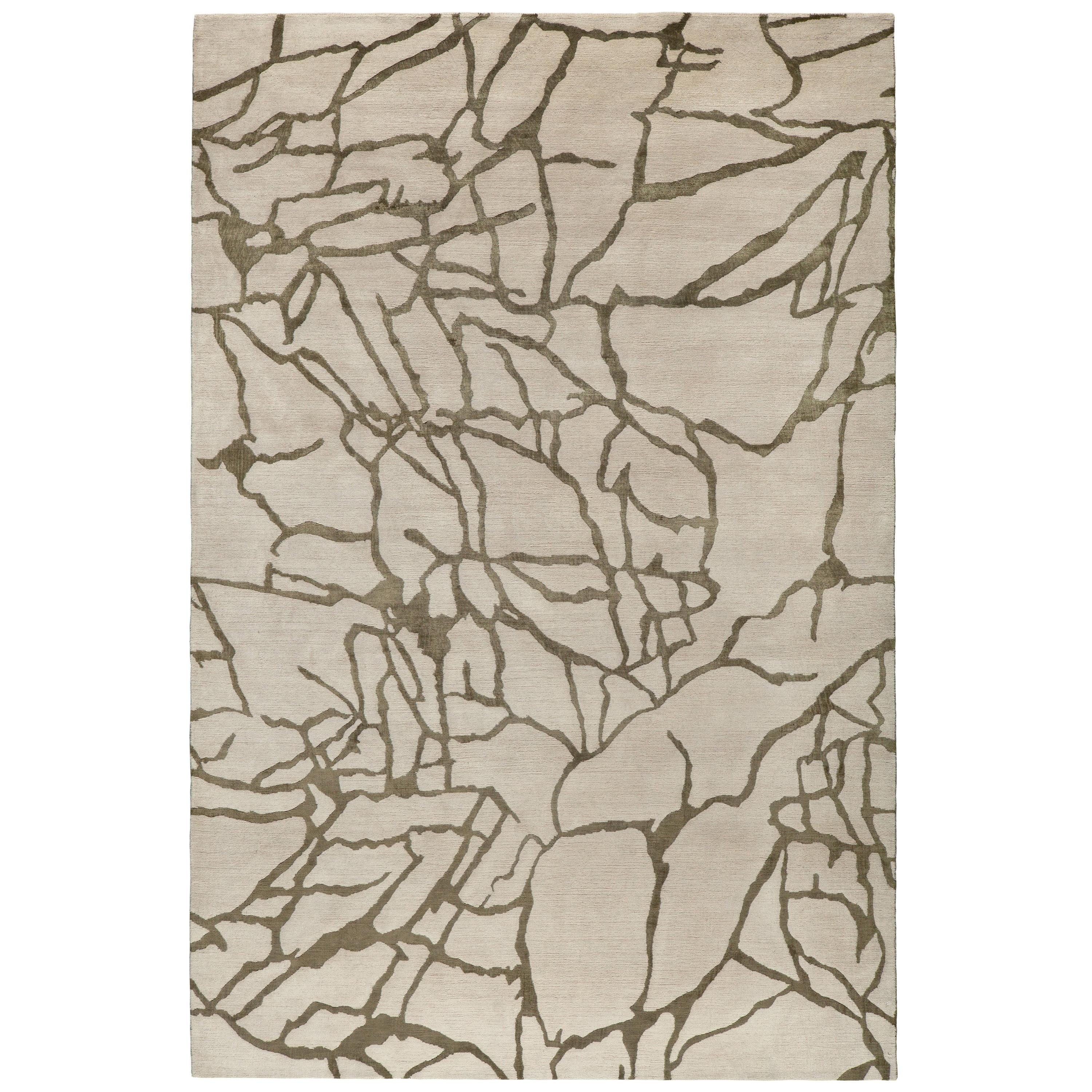 Tracery Hand-Knotted 10x8 Rug in Wool and Silk by Kelly Wearstler