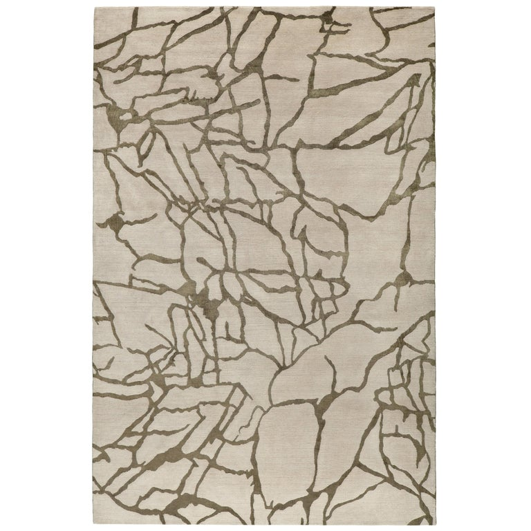 Tracery Hand-Knotted 10x8 Rug in Wool and Silk by Kelly Wearstler For Sale