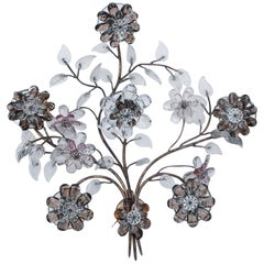 Oswald Haerdtl Flower Crystal Wall Lamp for Lobmeyr, Vienna