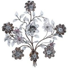 Oswald Haerdtl Flower Crystal Wall Lamp for Lobmeyr, Vienna