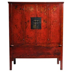Chinese Wedding Cabinet with Square Lockplate