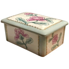 Limoges France YF Porcelain Jewelry Hand Painted Rose Box