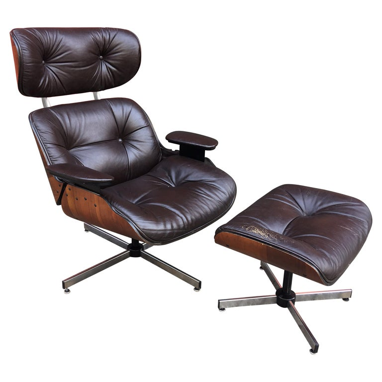 Plycraft Selig Lounge Chair And Ottoman At 1stdibs