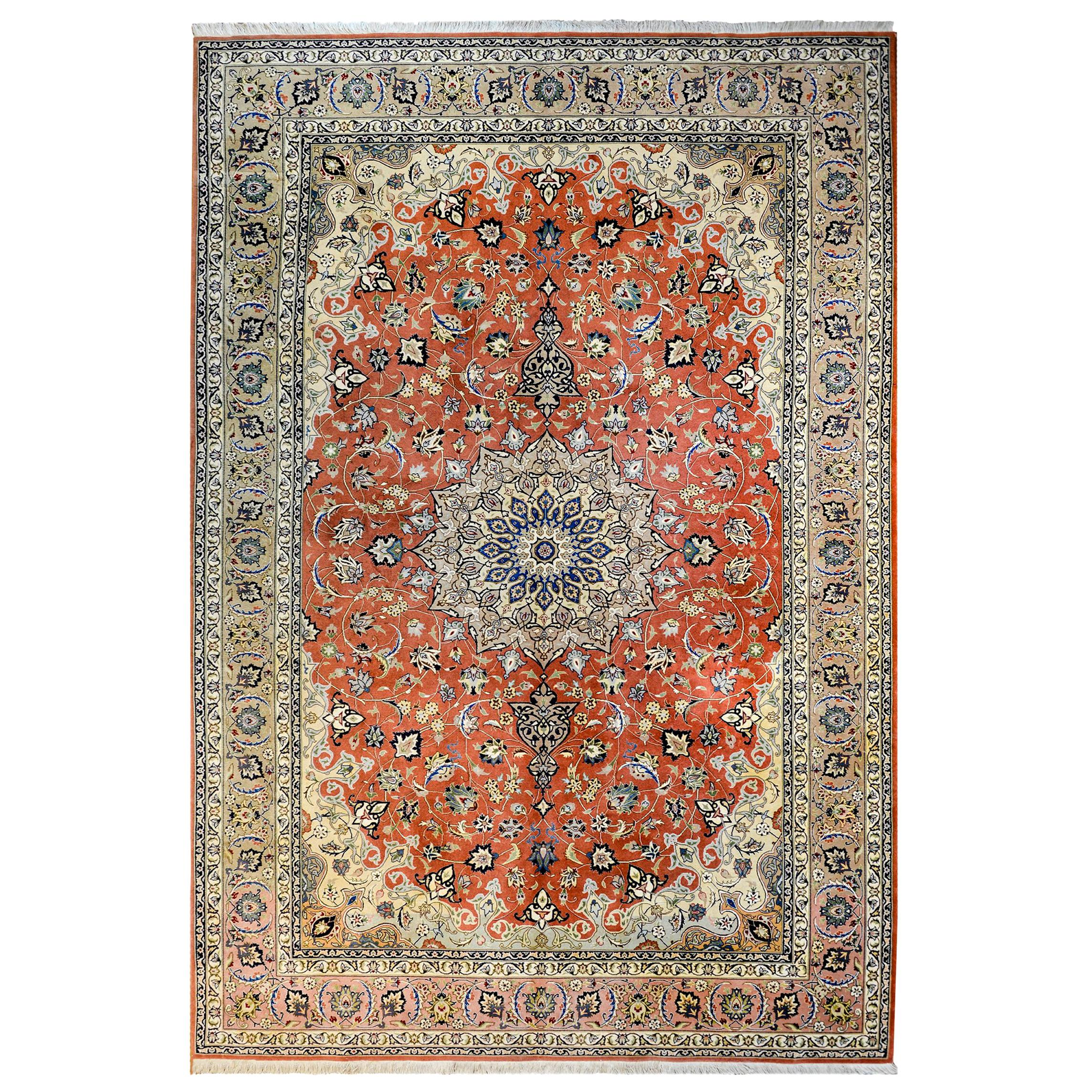 Extremely Fine Late 20th Century Tabriz Rug