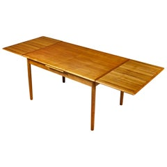 Danish Teak Expandable Dining Room Table