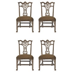 Set of 4 Hickory Chair Chippendale Chairs