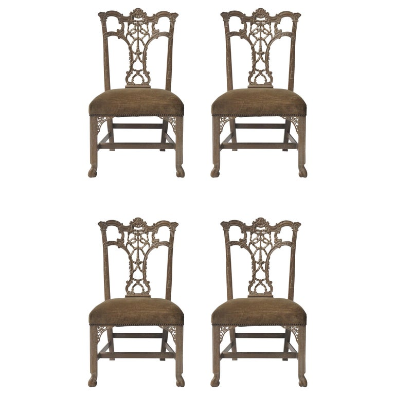 Surprising Set Of 4 Hickory Chair Chippendale Chairs At 1Stdibs Forskolin Free Trial Chair Design Images Forskolin Free Trialorg