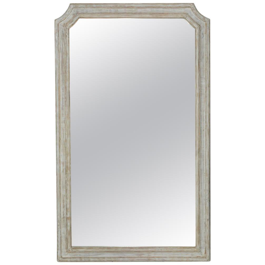 Painted Louis XVI Style Full Length Dressing Mirror