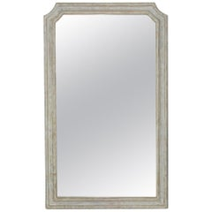Painted Louis XVI Style Full Length Dressing Mirror