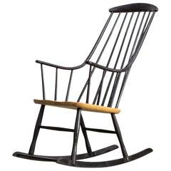1960s Lena Larsson 'Grandessa' Rocking Chair for Nesto