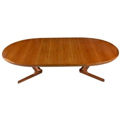 Danish Modern Teak Extending Dining Table by Interform Collection