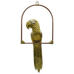 Large Brass and Copper Parrot by Sergio Bustamante, 1960s