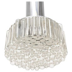 Pendant Clear Bubble Lights by Helena Tynell, for Limburg Glashutte, Germany