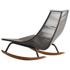 Laze Rocking Chair for Outdoors with Smoke Structure and 7 Cord Color Options