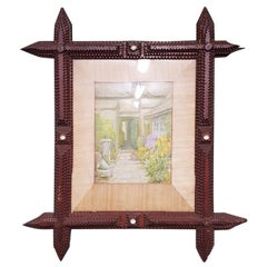 Early 20th Century French Tramp Art Picture Frame